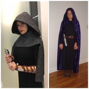 My Barriss Offee costume progress: 2016 vs 2005